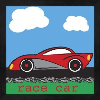 Melanie Parker 'Race Car' Framed Art
