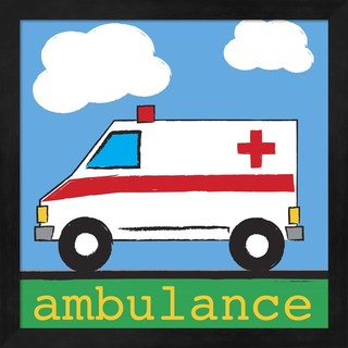 Melanie Parker 'Ambulance' Framed Art