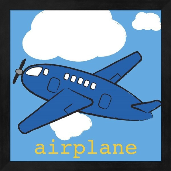 Melanie Parker \'Airplane\' Framed Art - Free Shipping On Orders Over ...