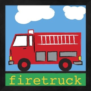 Melanie Parker 'Firetruck' Framed Art