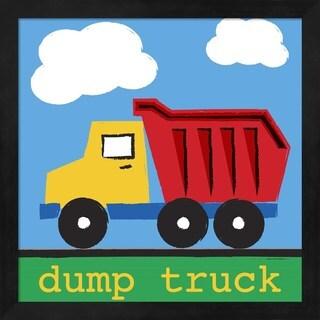 Melanie Parker 'Dump Truck' Black Framed Art