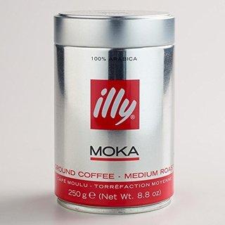illy Medium Roast Ground Moka Coffee, 8.8-ounce Can