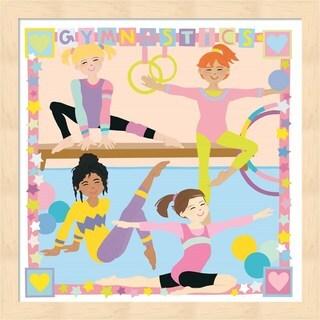 Cheryl Piperberg 'Gymnastics' Framed Art