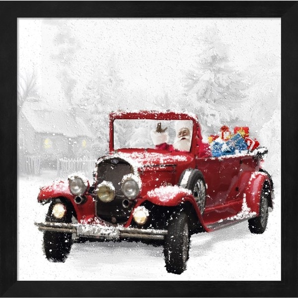 DBK-Art Licensing \'Santa\'s Red Classic Car\' Framed Art - Free ...