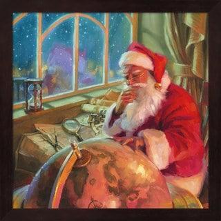 Steve Henderson 'Santa World Traveler' Framed Wall Art