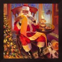 Steve Henderson 'Santa Christmas List' Framed Art