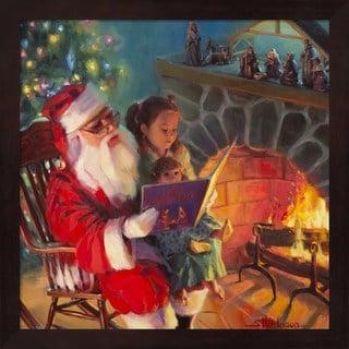 Steve Henderson 'Santa Christmas Story' Framed Wall Art