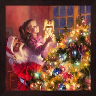 Steve Henderson 'Santa Little Angel Bright' Framed Art