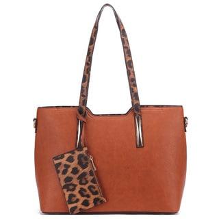 MKF Collection Lola Leopard Strap Shoulder Bag