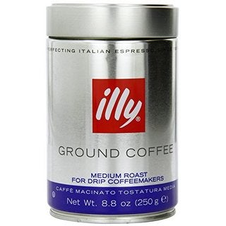illy Medium Roast Blue Band Ground Coffee Drip Grind in 8.8-ounce Tin