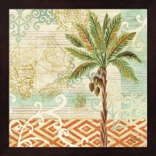 Rebecca Lyon 'Spice Palms II' Framed Art