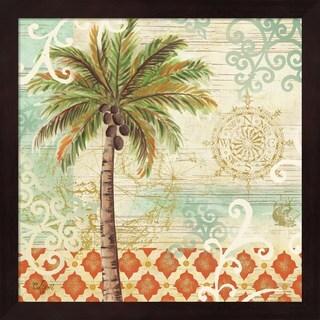 Rebecca Lyon 'Spice Palms I' Framed Art