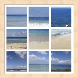 Erin Clark 'Beach Collage' Framed Art