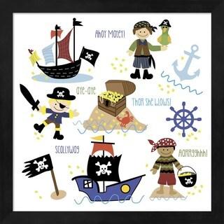 Erin Clark 'Pirates & Ships' Framed Wall Art