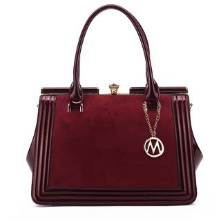 MKF Collection Marigold Kiss-Lock Patent Shoulder Celebrity Style Tote