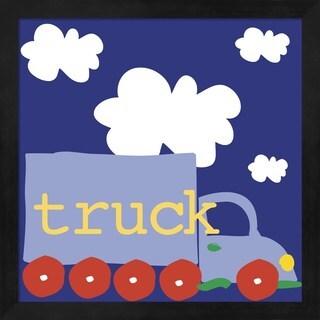 Erin Clark 'Blue Truck' Framed Art