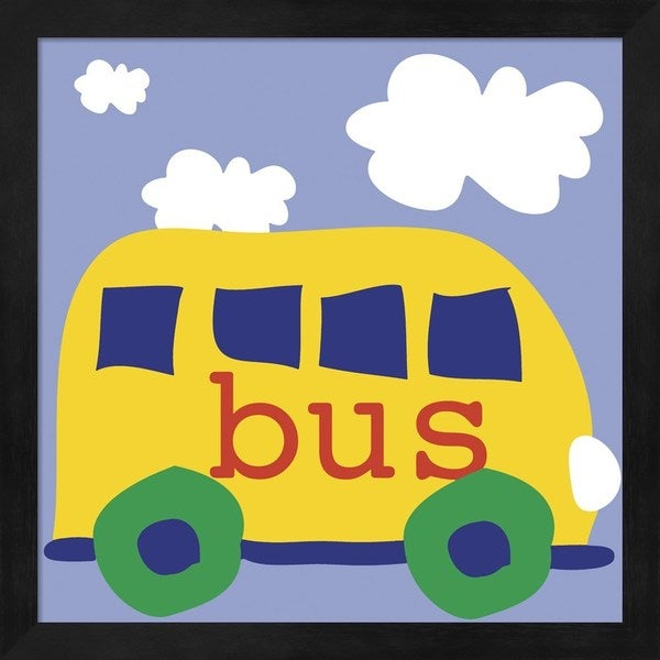 Erin Clark 'Yellow School Bus' Framed Art - Multi