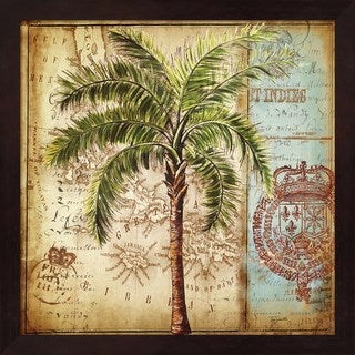 Tre Sorelle Studios 'Antique Nautical Palms II' Framed Art