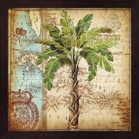 Tre Sorelle Studios 'Antique Nautical Palms I' Framed Art