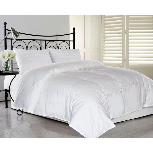 Elle Eco Unbleached Cotton Down Comforter