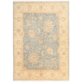 Herat Oriental Afghan Hand-knotted Vegetable Dye Oushak Wool Rug (9'1 x 12'9)