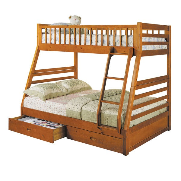 Shop Acme Furniture Jason Twin Over Full Bunk Bed With 2