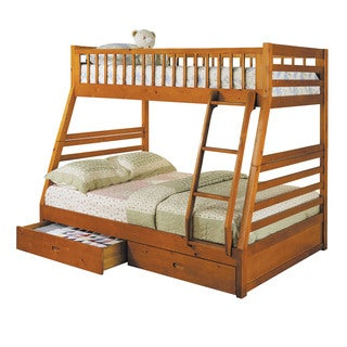 Acme Furniture Jason Twin over Full Bunk Bed with 2-Drawer