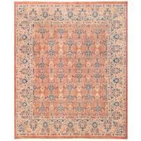 Herat Oriental Afghan Hand-knotted Vegetable Dye Kashan Wool Rug (7'11 x 9'6)