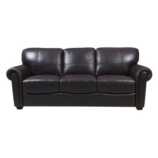 Cameron Dark Brown Leather Sofa
