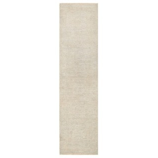 Herat Oriental Afghan Hand-knotted Vegetable Dye White Wash Oushak Wool Runner (2'10 x 11'2)
