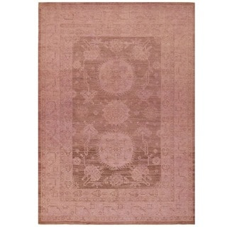 Herat Oriental Afghan Hand-knotted Over-dyed Oushak Wool Rug (6'2 x 8'9)