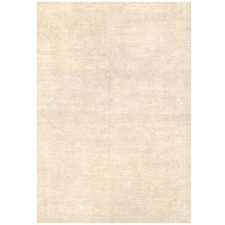 Herat Oriental Afghan Hand-knotted Vegetable Dye White Wash Oushak Wool Rug (6' x 8'8)