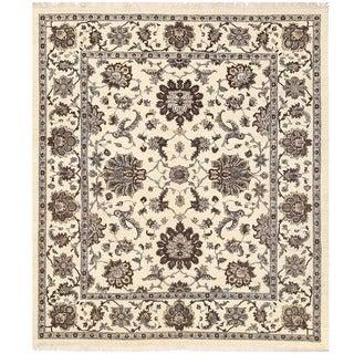 Herat Oriental Afghan Hand-knotted Vegetable Dye Oushak Wool Rug (8'2 x 9'6)