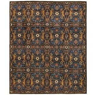 Herat Oriental Afghan Hand-knotted Vegetable Dye Ikat Wool Rug (8' x 9'7)
