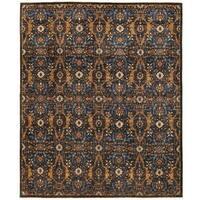 Handmade Herat Oriental Afghan Vegetable Dye Ikat Wool Rug - 8' x 9'7 (Afghanistan)