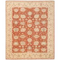 Herat Oriental Afghan Hand-knotted Vegetable Dye Tabriz Wool Rug (8'5 x 9'11) - 8'5 x 9'11
