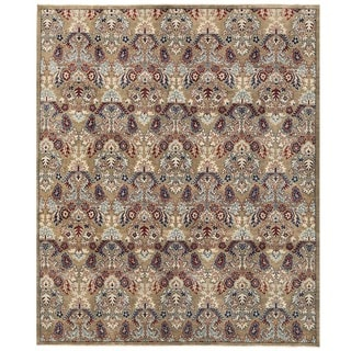 Herat Oriental Afghan Hand-knotted Vegetable Dye Ikat Wool Rug (7'11 x 9'6)