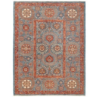 Herat Oriental Afghan Hand-knotted Vegetable Dye Suzani Wool Rug (5'8 x 7'6)