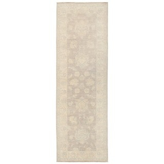 Herat Oriental Afghan Hand-knotted Vegetable Dye Oushak Wool Runner (2'8 x 7'10)