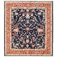 Handmade Herat Oriental Afghan Vegetable Dye Oushak Wool Rug - 8'2 x 9'3 (Afghanistan)