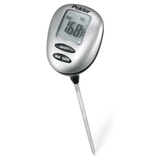 Polder Stainless Steel Instant-read Thermometer with Presets