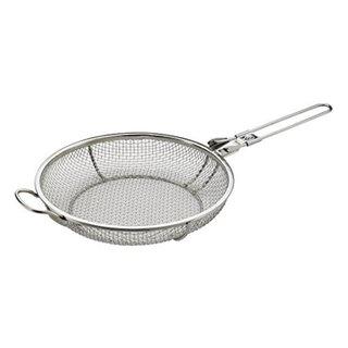 Elizabeth Karmel's Stainless Steel Sizzlin' Skillet Grill Pan and Vegetable Grill Basket