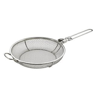 Elizabeth Karmel's Stainless Steel Sizzlin' Skillet Grill Pan and Vegetable Grill Basket