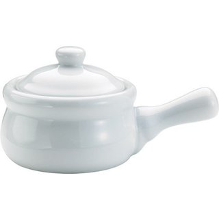 White Porcelain Onion Soup Crocks with Lids (Pack of 4)