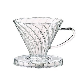Clear Borosilicate Glass Number 2-Size Pour-Over Coffee Filter Cone