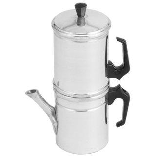 Neopolitan Silver-colored Aluminum 6-cup Coffee Maker