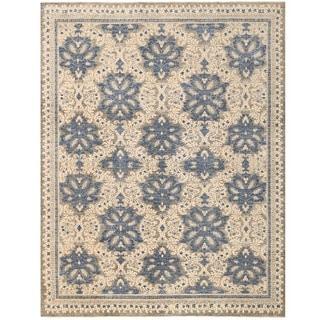 Herat Oriental Afghan Hand-knotted Vegetable Dye Khotan Wool Rug (8'11 x 11'5)