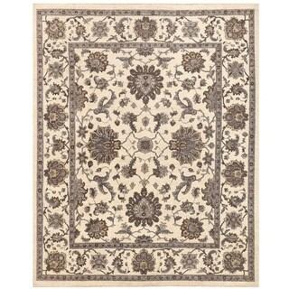 Herat Oriental Afghan Hand-knotted Vegetable Dye Oushak Wool Rug (8'1 x 9'11)