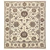 Handmade Herat Oriental Afghan Vegetable Dye Oushak Wool Rug (Afghanistan) - 11'6 x 13'1