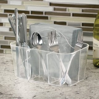 InterDesign Clarity Clear Flatware Caddy